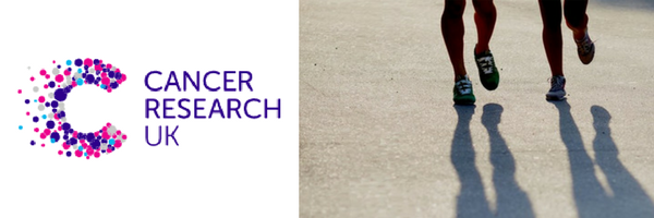 image of CRUK logo and person running