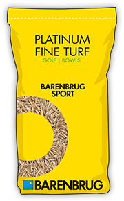 image of yellow bag with platinum fine turf title