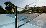 S8 76mm Square Tennis Posts - with sockets