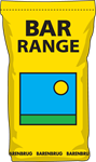 Picture of yellow bag of grass seed with blue square and barenbrug text