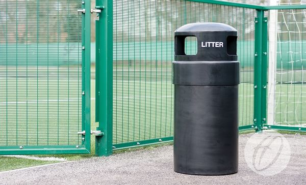 Hooded Outdoor Bin