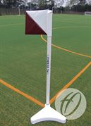 2 Colour PVC Flag 300mm x 300mm (Diagonal)